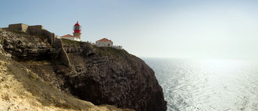 Cabo de Sao Vicente is the South Western tip of Europe Royalty Free Stock Photos