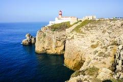 Cabo De Sao Vincente latarnia morska w Algarve Fotografia Stock