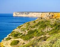 Cabo De Sao Vincente przylądek w Algarve Zdjęcia Stock