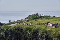 Cabo de Seopjikoji na ilha de Jeju, Coreia foto de stock