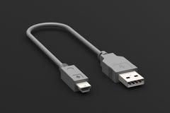 Cabo de USB Imagens de Stock Royalty Free