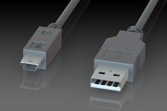 Cabo de USB Foto de Stock Royalty Free