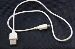 Cabo de USB Imagens de Stock