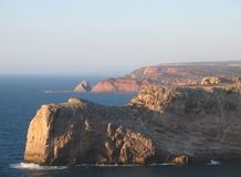 Cabo de Vincente. Rocky coast near cabo de Vincente in Portugal Stock Image