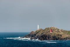 Cabo del Home Lighthouse在西班牙 免版税库存图片