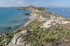 Cabo del St. Marco, Cerdeña imágenes de archivo libres de regalías
