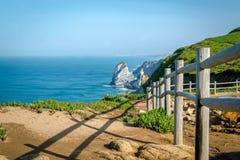 Cabo a Dinamarca Roca, Europa de Portugal Foto de Stock