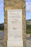 Cabo a Dinamarca Roca, Portugal, a ponta westernmost do cont europeu imagem de stock royalty free