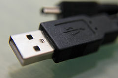 Cabo do USB Fotografia de Stock