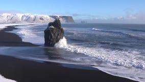 Cabo Dyrholaey, Islandia almacen de metraje de vídeo