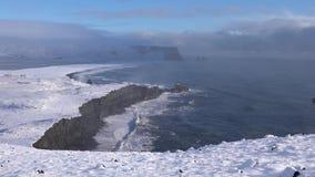 Cabo Dyrholaey, Islandia almacen de video