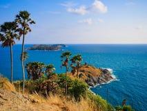 Cabo e mar de Phrom Thep Imagem de Stock Royalty Free