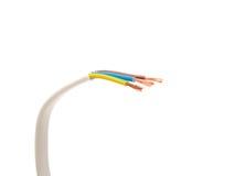 Cabo elétrico no fundo branco Imagem de Stock