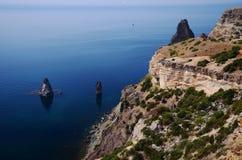 Cabo Fiolent em Crimeia Foto de Stock Royalty Free