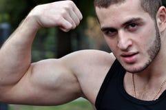 Cabo flexível do bíceps fotos de stock royalty free