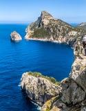 Cabo Formentor e plataforma da visão, Majorca Fotos de Stock Royalty Free