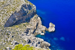 Cabo Formentor en la costa de Mallorca, España Fotografía de archivo libre de regalías