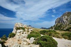 Cabo Formentor, Mallorca Foto de archivo libre de regalías