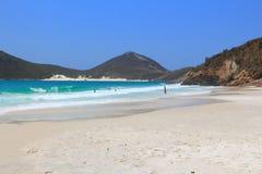 Cabo Frio, Brazil. Prainhas beach with white sand Royalty Free Stock Photos