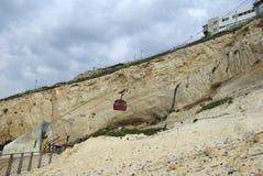 Cabo funicular em Rosh Hanikra Imagem de Stock