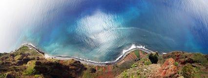 Cabo Girao马德拉岛全景  免版税图库摄影