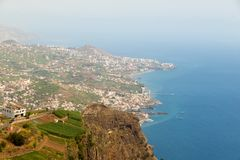 Cabo Girao, View from the highest cliff of Europe towar Stock Image