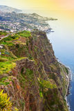 Cabo Girao sea cliff in Madeira Royalty Free Stock Images