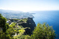The Cabo Girao Viewpoint above Camara de Lobos is near the city of Funchal and has some of the highest cliffs in the world Stock Images