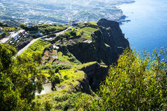 The Cabo Girao Viewpoint above Camara de Lobos is near the city of Funchal and has some of the highest cliffs in the world Royalty Free Stock Photos