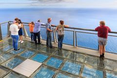 Cabo Girao viewpoint tourism stock photo
