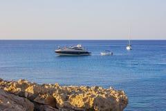 Cabo Greco Chipre en la puesta del sol foto de archivo libre de regalías