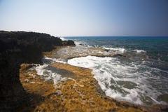 Cabo Greco ou Cavo Greco, Agia Napa Fotos de Stock Royalty Free