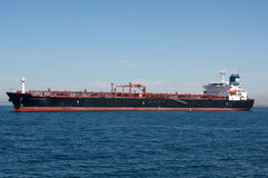 Cabo Hellas Oil Tanker. Anchored offshore Stock Photos