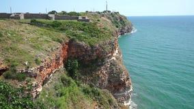 Cabo Kaliakr en Bulgaria septentrional almacen de video