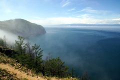 Cabo Khoboy en la isla de Olkhon, el lago Baikal, Rusia Foto de archivo