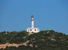 Cabo Lefkatas e o farol no sul de Lefkada, Grécia Fotografia de Stock