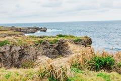 Cabo Manzamo en el día nublado fotografía de archivo