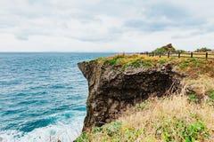 Cabo Manzamo en el día nublado imagenes de archivo