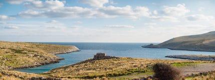 Cabo Matapan em Mani, Laconia, Peloponnese, Grécia imagem de stock