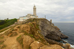 Cabo mayor lighthouse in the city of santander Stock Photos