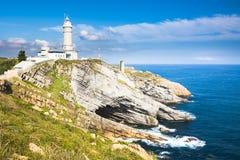 The Cabo Mayor lighthouse Royalty Free Stock Photo