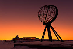 Cabo norte, no ponto o mais northernmost de Europa imagem de stock royalty free
