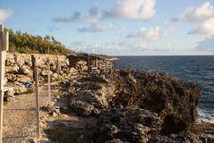 Cabo North Point na ilha de Barbados fotos de stock royalty free