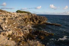 Cabo North Point na ilha de Barbados imagem de stock