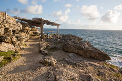 Cabo North Point na ilha de Barbados imagens de stock royalty free
