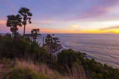 Cabo Phuket de Promthep Fotografía de archivo libre de regalías