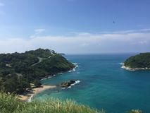 Cabo Phuket de Promthep Imagenes de archivo