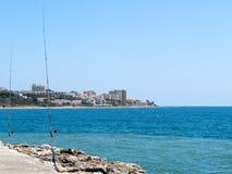 CABO PINO, ANDALUCIA/SPAIN - 6 DE MAYO: Pesca en Cabo Pino Malaga Fotografía de archivo
