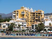 CABO PINO, ANDALUCIA/SPAIN - MAJ 6: Sikt av Cabo Pino Spain på Royaltyfri Fotografi