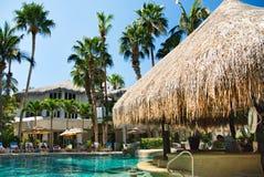 Cabo piscina del centro turístico de San Lucas, México foto de archivo libre de regalías
